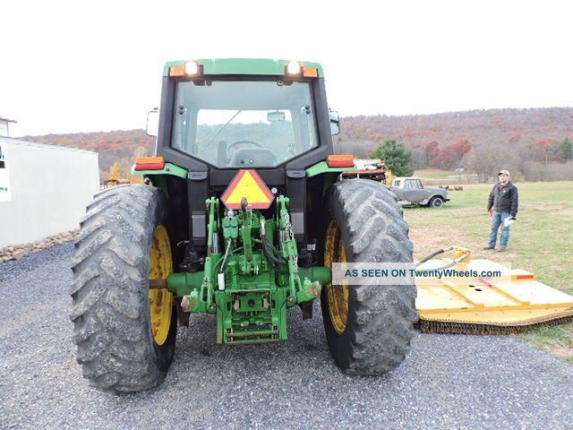 2001 john deere 6310 farm tractor with loader alamo side arm mower cab heat air. Black Bedroom Furniture Sets. Home Design Ideas