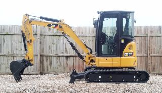 1 Owner 2013 Caterpillar 303.  5e Cr Mini Track Excavator Cab Heat Air Aux Hyd Cat photo