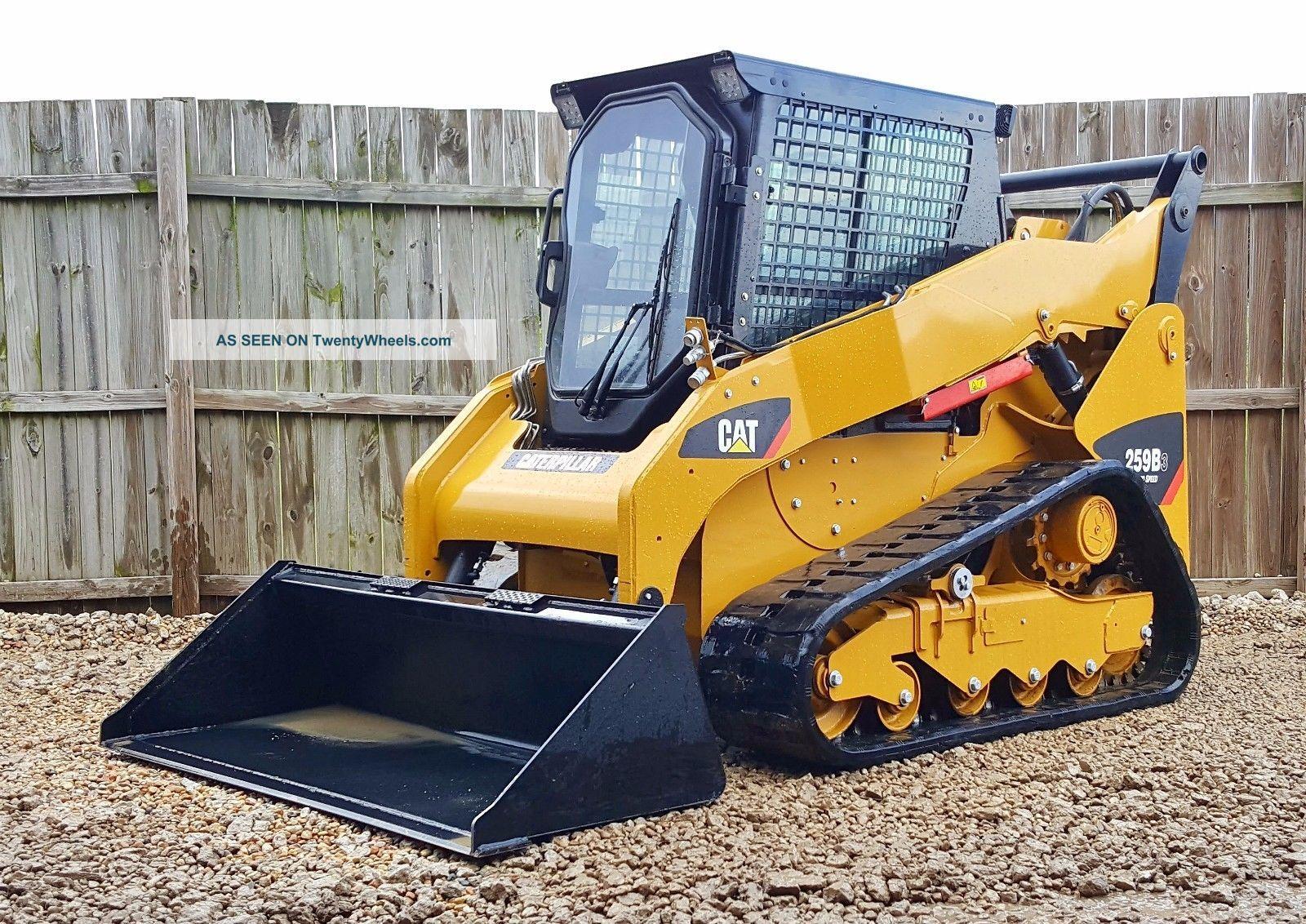 Track Skid Steer Loader : Caterpillar cat b air heat mph compact track