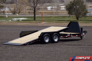 Heavy Duty 14,  000 Gvwr Low Pro Tilt Equipment Trailer photo