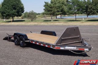 Heavy Duty 14,  000 Gvwr Low Profile Equipment Trailer: 24