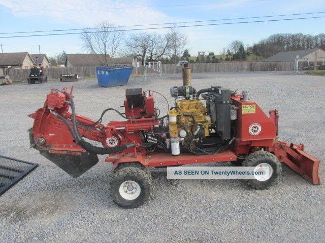 2008 Morbark D52sph Diesel Stump Grinder W/ 2016 6x12 Utility Trailer Wood Chippers & Stump Grinders photo