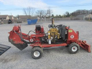 2008 Morbark D52sph Diesel Stump Grinder W/ 2016 6x12 Utility Trailer photo