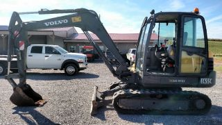2012 Volvo Ec55c Cab A/c Small / Mini / Compact / Midi Excavator Trackhoe Loader photo