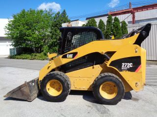 2011 Caterpillar 272c 2 Spd Hight Flow Skid Steer Loader - Enclosed Cab Ac Heat photo