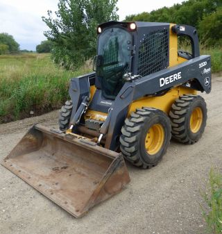 2012 John Deere 332d Skidsteer Loader Deluxe Cab/ac Full Powertrain photo