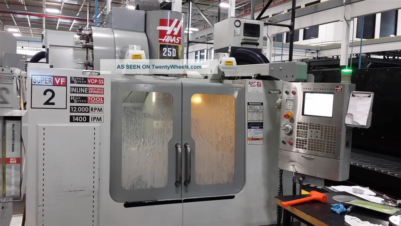 Haas Vf - 2ss Cnc Vertical Machining Center Mill 12,  000 Rpm 24 Atc Vmc 2005 Milling Machines photo