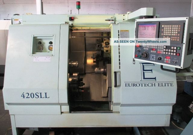 Eurotech 420sll Twin Spindle Twin Turret Cnc Turning Center Lathe Fanuc ' 99 Metalworking Lathes photo