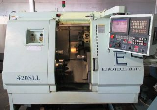 Eurotech 420sll Twin Spindle Twin Turret Cnc Turning Center Lathe Fanuc ' 99 photo