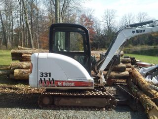 Bobcat 331g,  Mini Excavator,  Cab Heat,  2 Speed,  Only 1400 Hrs photo