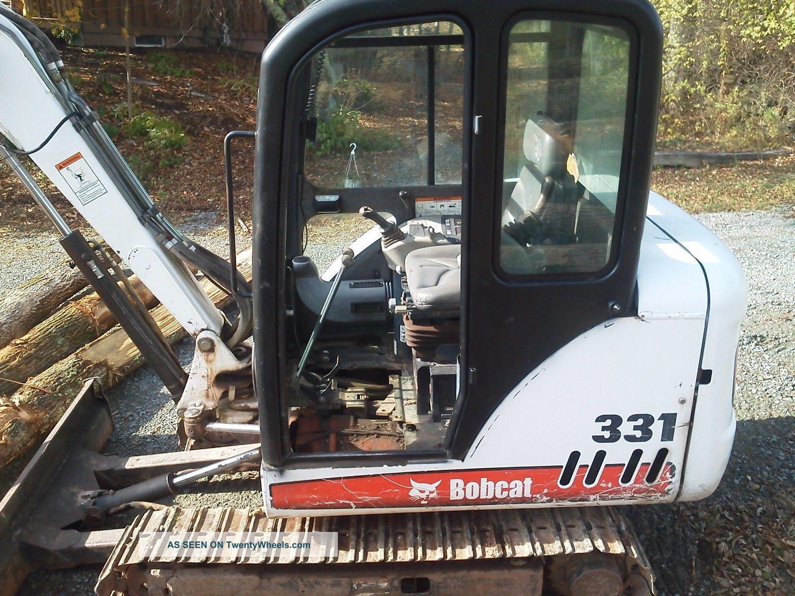 Bobcat 331g, Mini Excavator, Cab Heat, 2 Speed, Only 1400 Hrs