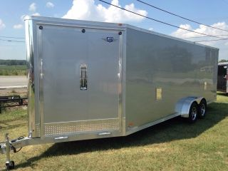 4 Place All Aluminum 7 X 27 Enclosed Snowmobile With Options photo