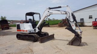 2000 Bobcat 337 Mini Excavator Tracked Hoe Hydraulic Thumb Blade Kubota Diesel photo