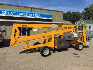 2014 Bil Jax X55a Self Propelled Boom Lift Man 4x4 Hybrid.  In - Stock photo
