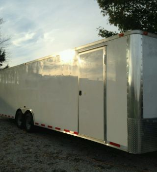 Enclosed Race Car Hauler photo