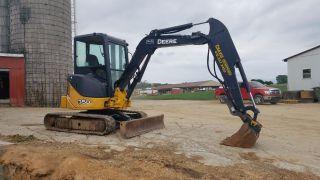 2012 John Deere 35d Mini Excavator Hydraulic Thumb Rubber Track Hoe Erops Cab Ac photo