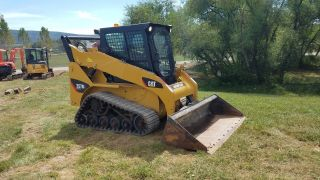 2013 Caterpillar 257b3 Compact Track Skid Steer Loader Cab Ac Great Cat Tracks photo