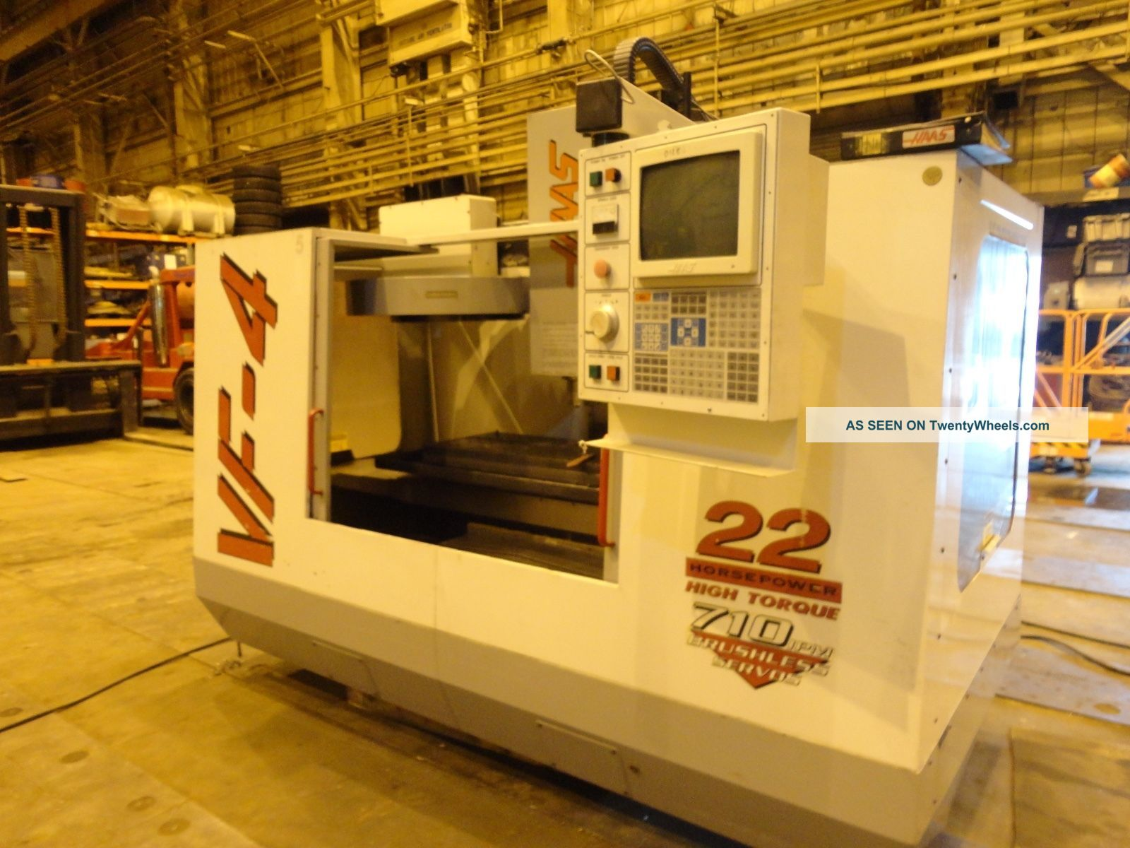Haas Vf4 Cnc Vertical Machining Center Mill Milling Machine - Loading Milling Machines photo
