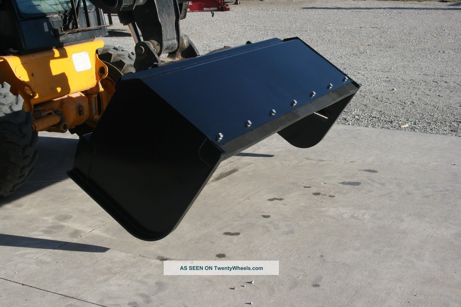 Skid Steer Tool Box : Push pull snow pusher plow skid steer quick attach