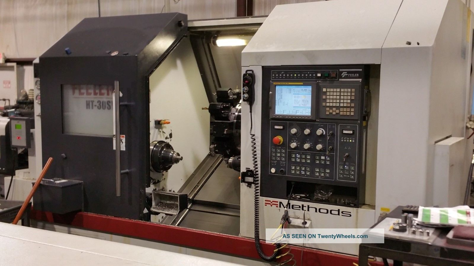 Feeler Ht - 30sy Cnc Turning Center Sub Spindle Live Tool Y Axis Fanuc Lns 11 Metalworking Lathes photo