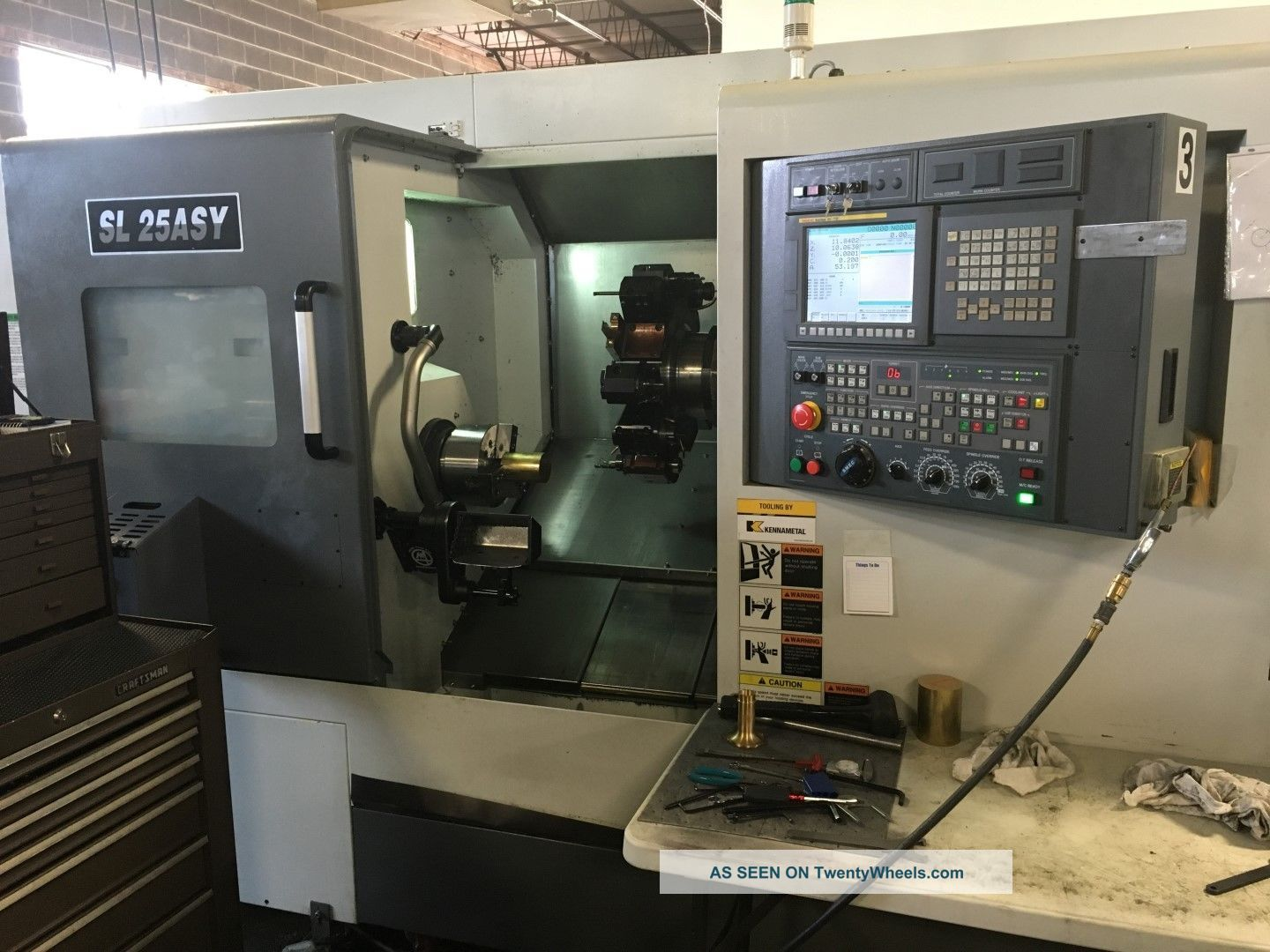 Samsung Sl - 25 Asy Cnc Live Tool Turning Center Lathe Fanuc Sub Y Axis 2013 Metalworking Lathes photo