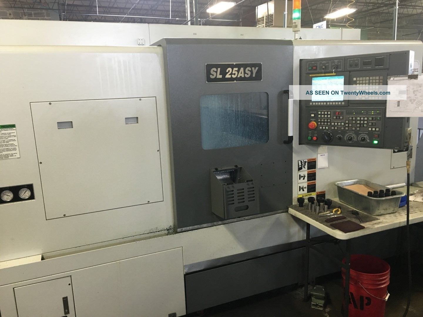 Samsung Sl - 25 Asy Cnc Live Tool Turning Center Lathe Fanuc Sub Y Axis ' 13 Metalworking Lathes photo