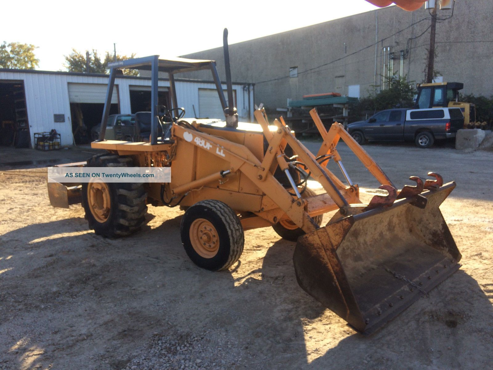 Case 480fll Landscape Loader Box Blade Skip Loader; One Owner - 2033 Hrs Backhoe Loaders photo