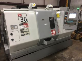 Haas Sl - 30 Lathe C - Axis Live Tooling Henning Chip Conveyor photo