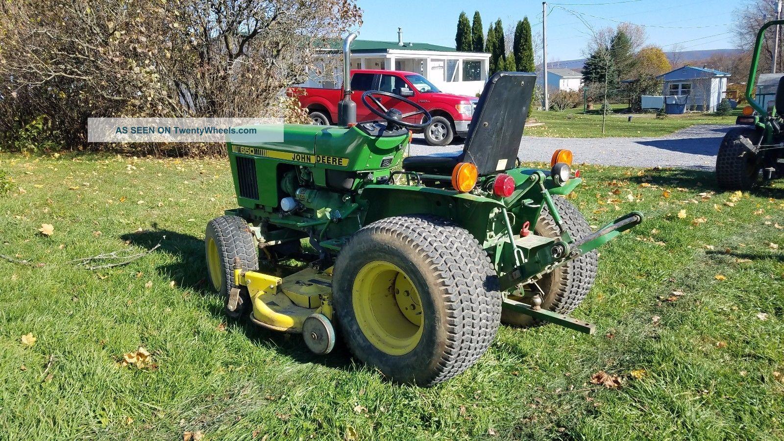 1984 John Deere 650 Garden Tractor Lawn Mower Diesel 16hp Pto Belly Mower