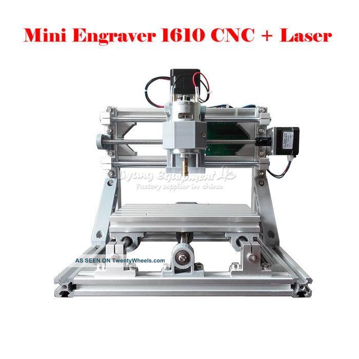 Cnc 1610 + 500mw Laser Grbl Control Diy Mini Cnc Engraving Machine Milling Machines photo