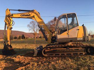 Gehl 1202 Hydraulic Excavator Dozer Front Blade John Deere Diesel Rubber Track photo