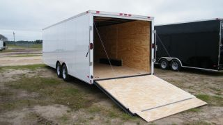 8.  5x16 Enclosed Trailer Cargo V - Nose 18 Car Hauler Box 8 Motorcycle 2016 Call photo