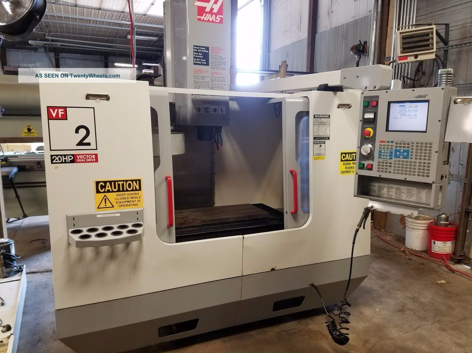 Haas Vf - 2 Vertical Mill Machining Center 30x16 Vmc 4th Ready Rigid Tap 2003 Milling Machines photo