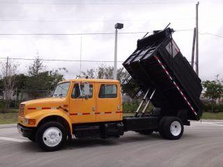 2001 International 4700 Crew Cab Dump Truck photo