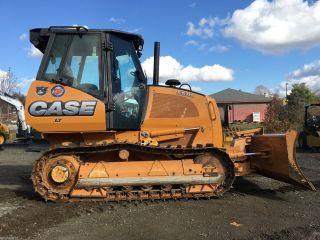 2014 Case 650l Lt Track Bulll Dozer 6 - Way Blade Cab Bulldozer Crawler Tractor photo