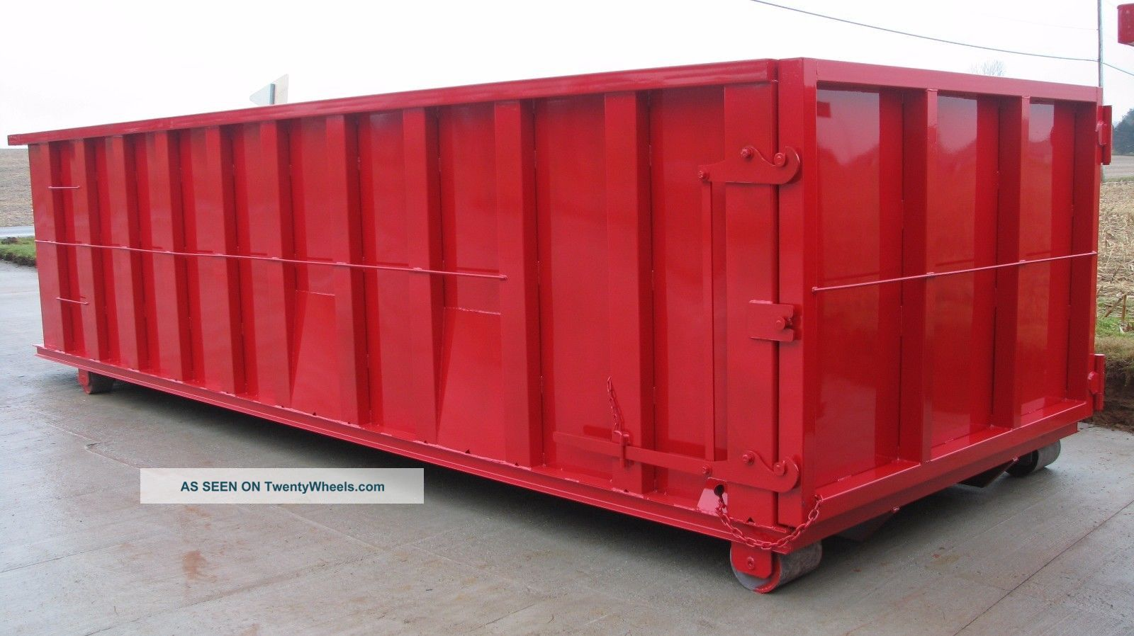 30 yard rolloff hooklift waste container dumpster - Garden waste containers ...