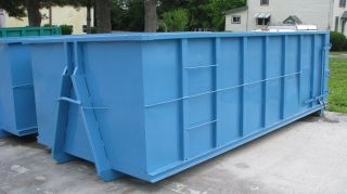 20 Yard Hooklift Waste Container / Dumpster photo