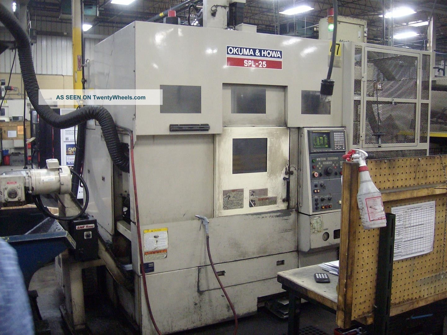 Okuma And Howa Spl - 25 Cnc Twin Turret Lathe Auto Gantry Loader Turning Center 00 Metalworking Lathes photo