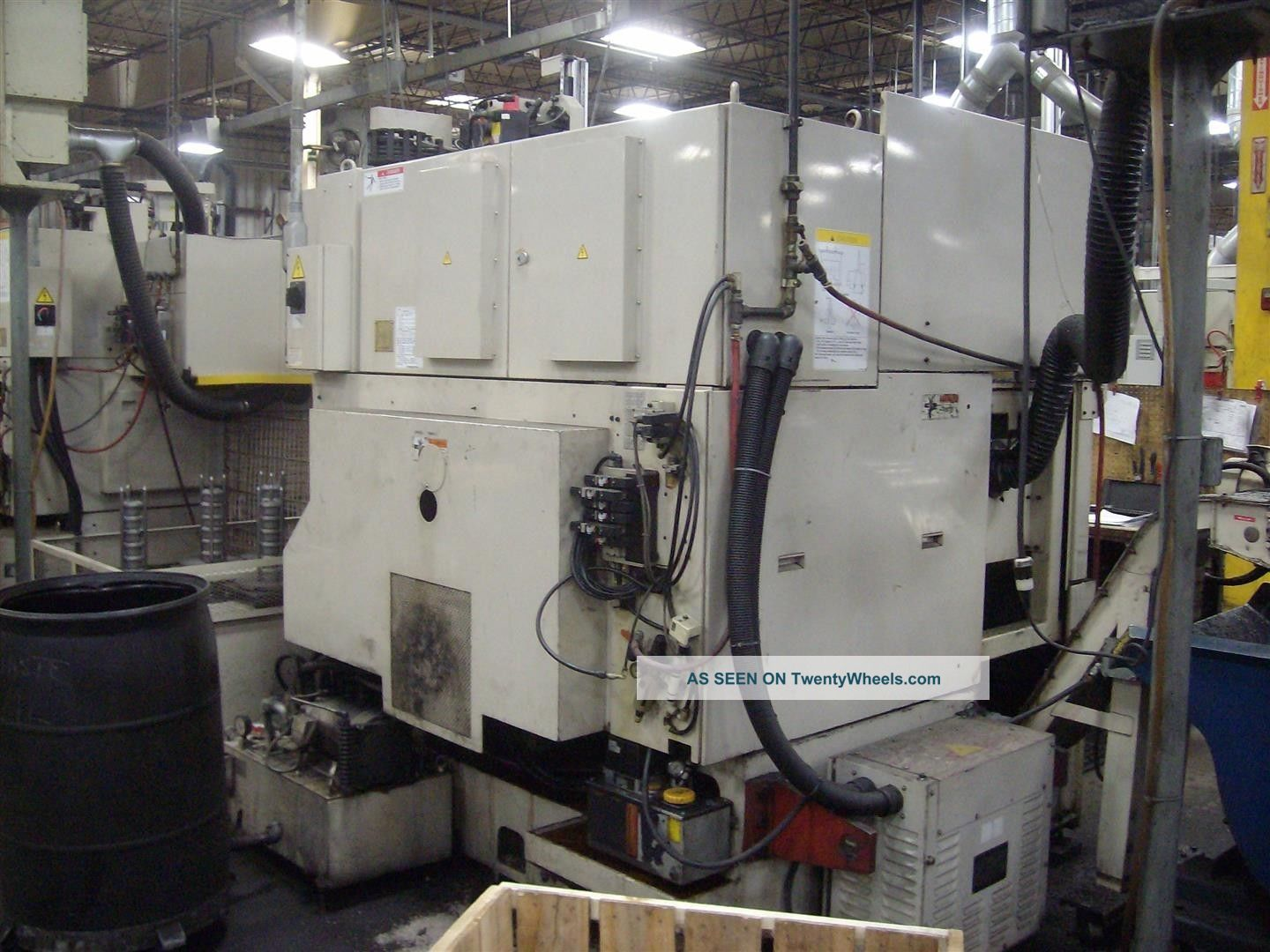 Okuma And Howa Spl 25 Cnc Twin Turret Lathe Auto Gantry