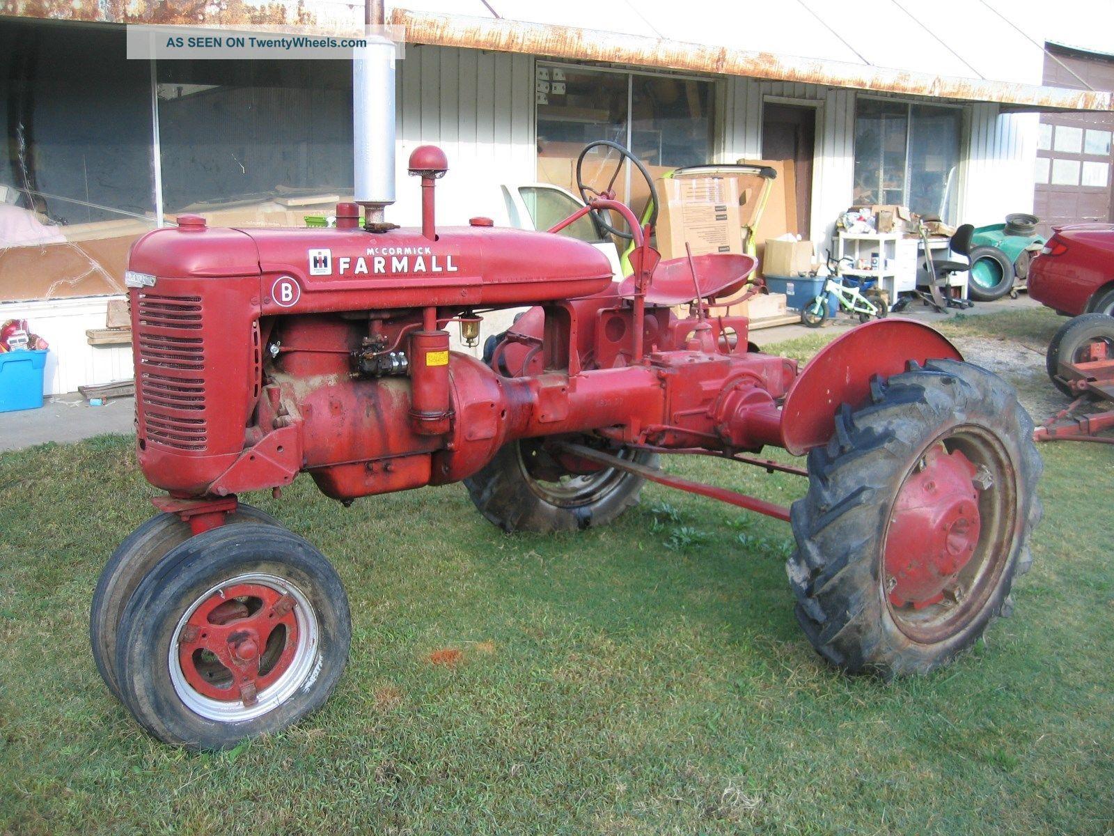 Tractor Pto : Farmall b tractor older restored runs drives pto