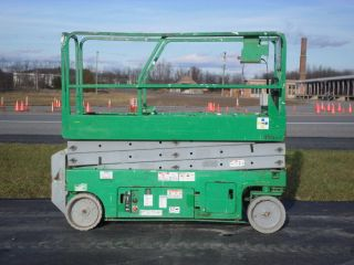 2006 Genie Gs2032 20 ' Electric Slab Scissor Lift Manlift 20ft Platform Lift photo