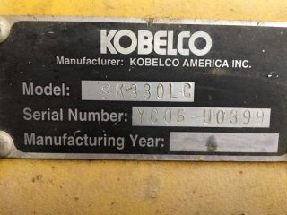 2005 Kobelco Sk330 Excavator photo