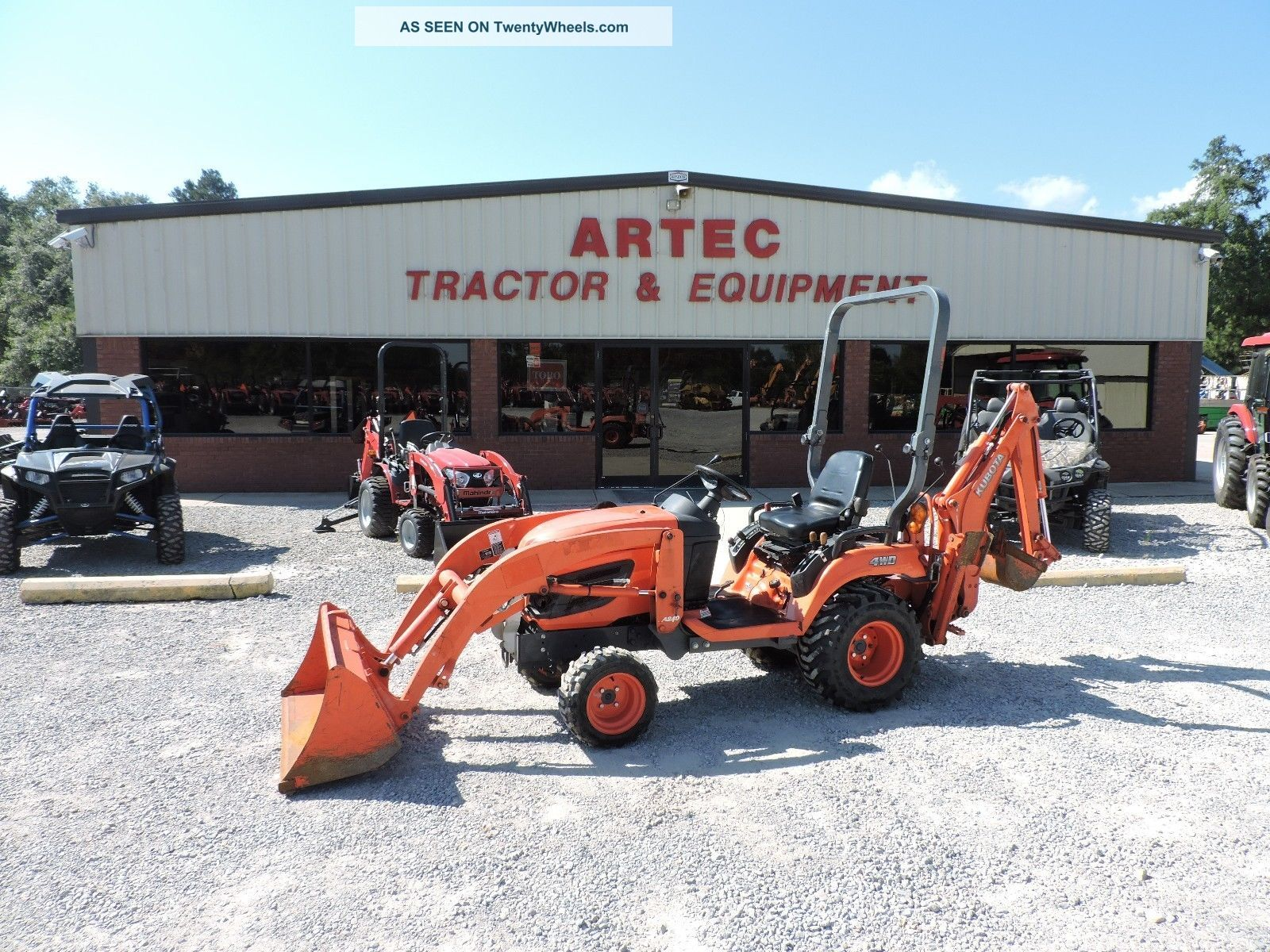 2012 Kubota Bx25d Tractor Loader Backhoe - Hst Transmission - 4x4 - Very Backhoe Loaders photo