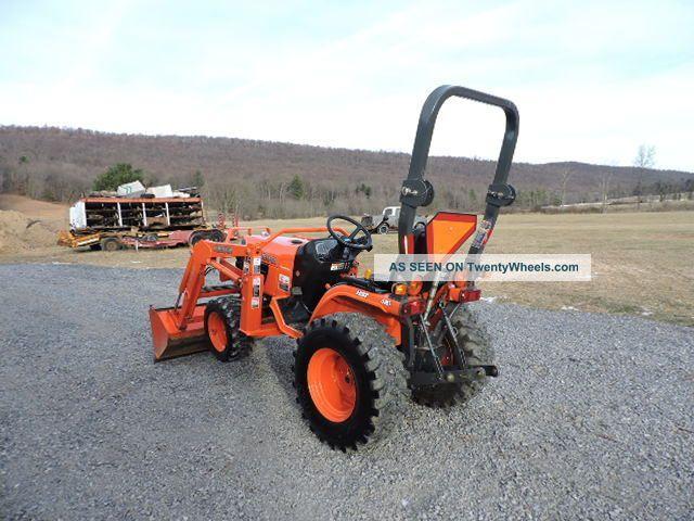 Small Tractors With Pto : Kubota b sub compact tractor loader la