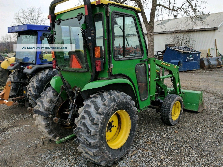 John Deere Backhoe Wheels : John deere wheel drive full cab diesel compact tractor