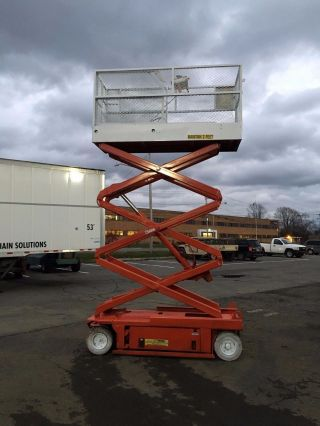 2002 Snorkel Sl20 Scissorlift 20 ' Deck Hgt,  26 ' Work Hgt,  Fully Operational Hd photo