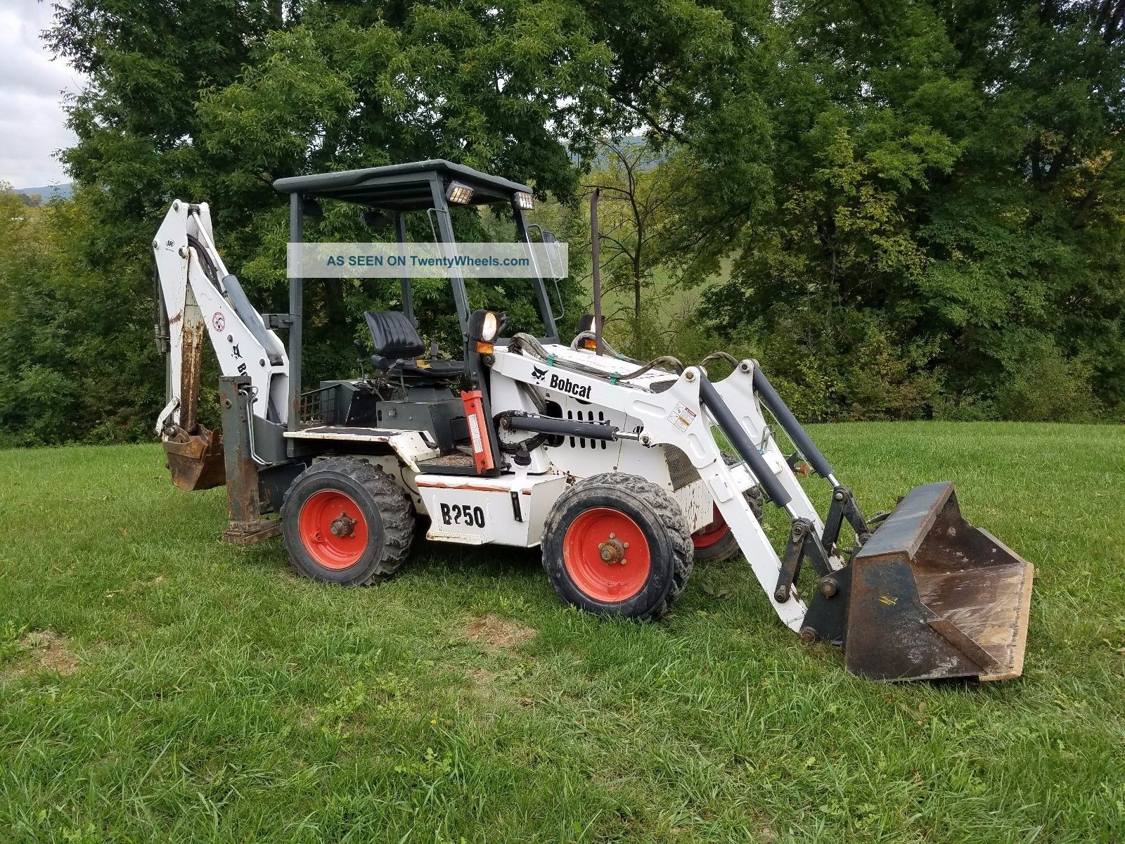 2006 Bobcat B250 Mini Compact Loader Backhoe Excavator Hydraulic Plumbed Tractor Backhoe Loaders photo