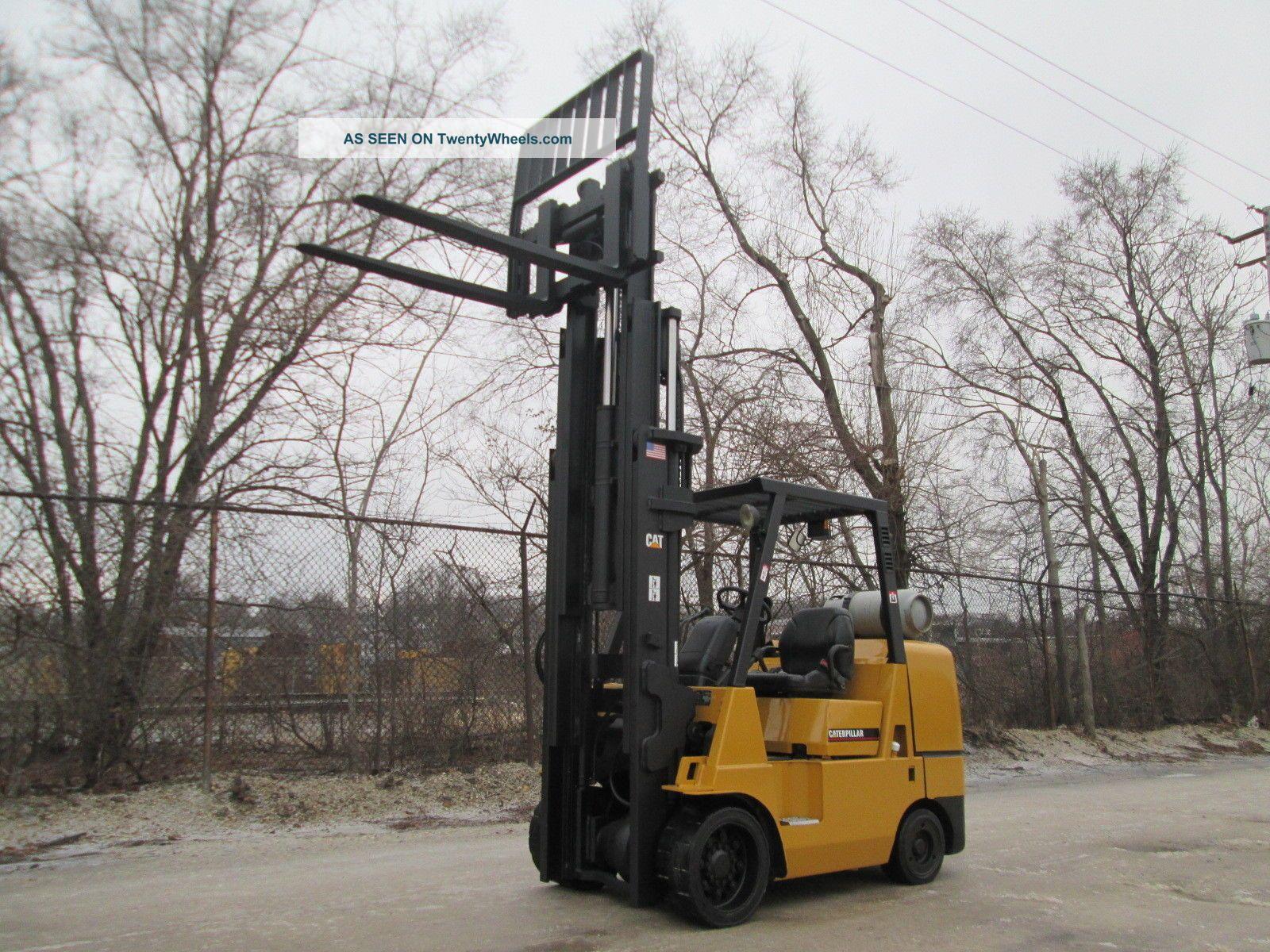 Mitsubishi Fgc K C Forklift Lift Truck Hilo Fork Lb Capacity Caterpillar Lgw