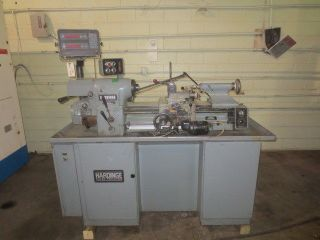 Hardinge Hlvh Tool Room Lathe W/ Acu - Rite 2 - Axis Digital Readout photo