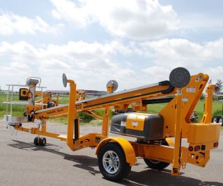 2017 Bil Jax 3632t Towable Boom Lift Man Lift Ship Anywhere Made In Usa photo
